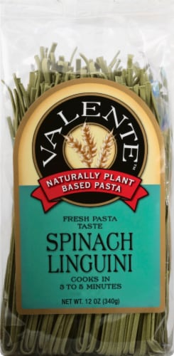 Pasta Valente Spinach Linguine Perspective: front