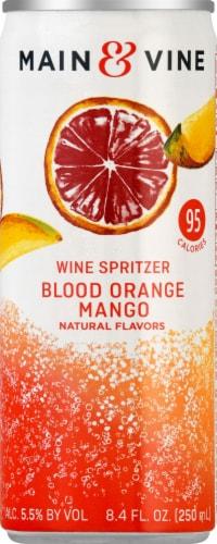 Main & Vine Blood Orange Mango Wine Spritzer Perspective: front