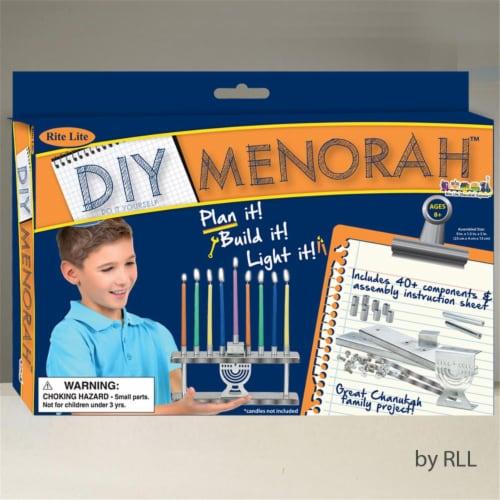 Rite Lite TYK-MEN D-I-Y Menorah Kit, Color Box - Piece of 40 Perspective: front