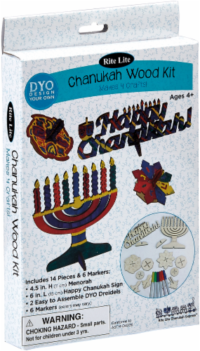 Rite Lite Chanukah Wood Craft Kit Perspective: front