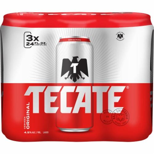 Tecate Cerveza Original Mexican Lager Beer Perspective: front