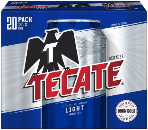 Tecate Cerveza Light Beer Perspective: front
