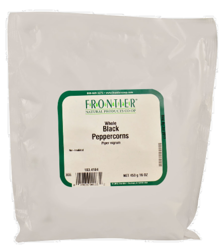 Frontier Whole Black Peppercorns Perspective: front
