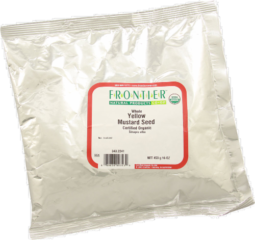 Frontier Organic Whole Yellow Mustard Seed Perspective: front