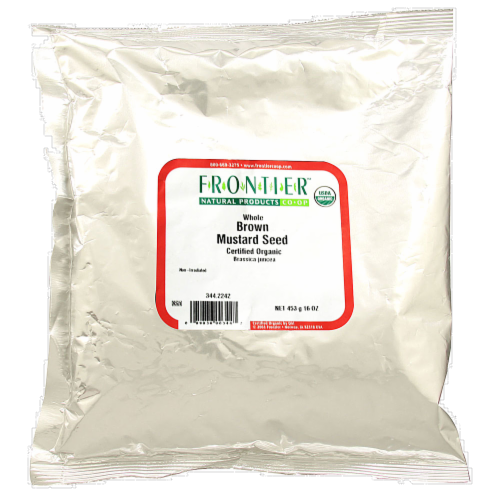 Frontier Organic Whole Brown Mustard Seed Perspective: front