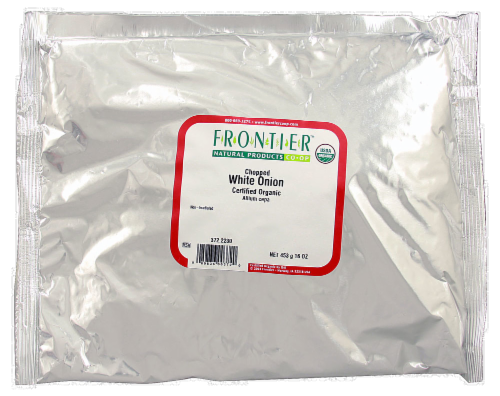 Frontier Organic Chopped White Onion Perspective: front