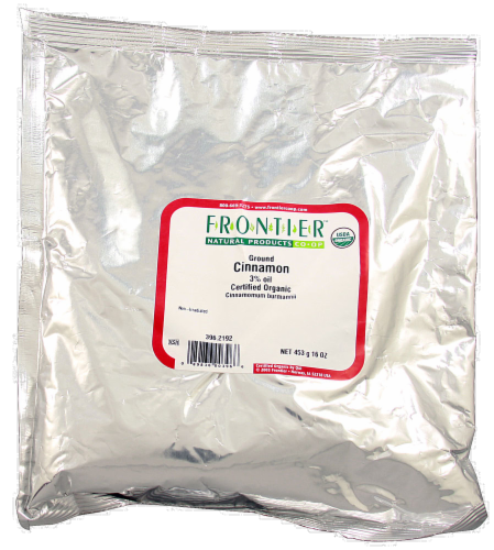 Frontier Organic Ground Cinnamon Oil Perspective: front