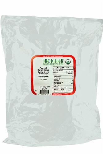 Frontier Natural Products Organic Powdered Barley Grass Perspective: front