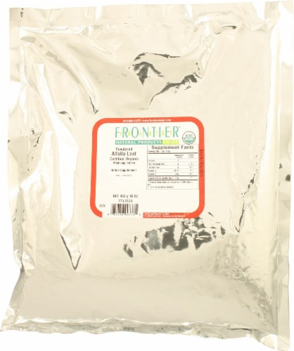 Frontier Natural Products Organic Powdered Alfalfa Leaf Perspective: front