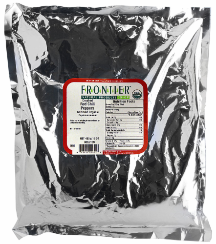 Frontier Organic Crushed Red Chili Peppers Perspective: front