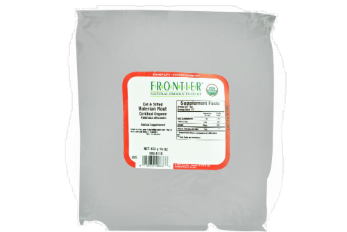 Frontier Natural Products Organic Cut & Sifted Valerian Root Perspective: front