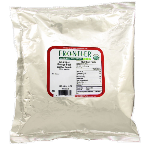 Frontier Organic Cut & Sifted Orange Peel Perspective: front
