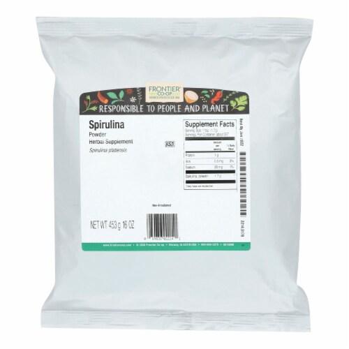 Frontier Herb Spirulina Powder - Single Bulk Item Perspective: front