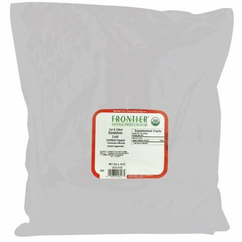 Frontier Organic Dandelion Leaf Tea Perspective: front