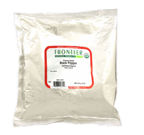 Frontier Organic Coarse Ground Black Pepper Perspective: front