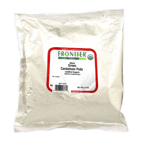 Frontier Organic Whole Green Cardamom Pods Perspective: front