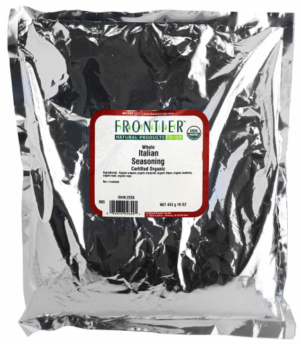 Frontier Organic Whole Italian Seasoning Perspective: front