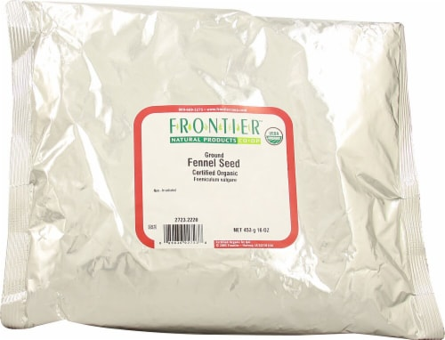 Frontier Organic Ground Fennel Seed Perspective: front