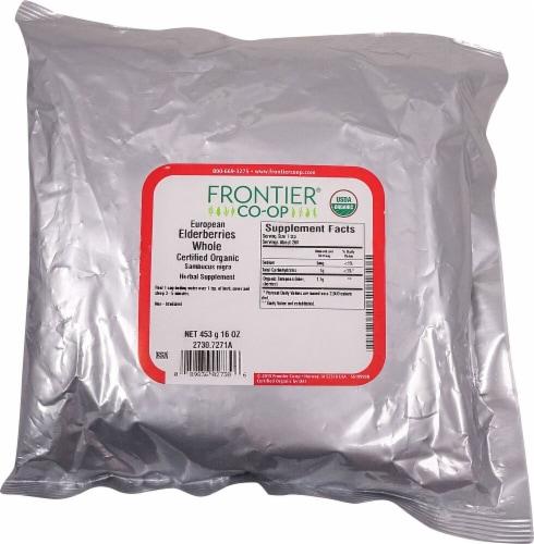 Frontier Organic Whole Elderberries Perspective: front