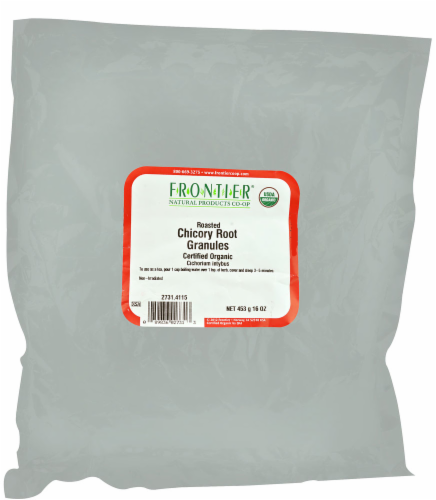Frontier Organic Roasted Chicory Root Granules Perspective: front