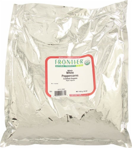 Frontier Organic White Peppercorns Perspective: front