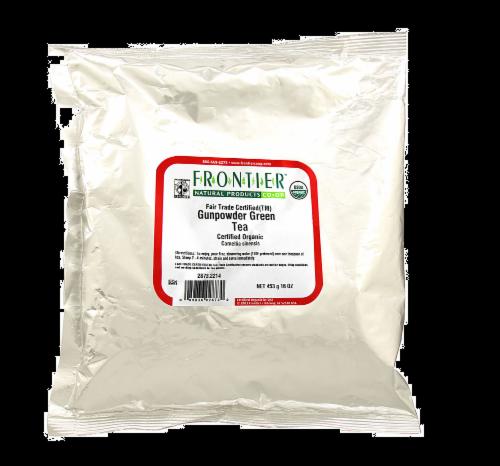 Frontier Organic Gunpowder Green Tea Perspective: front