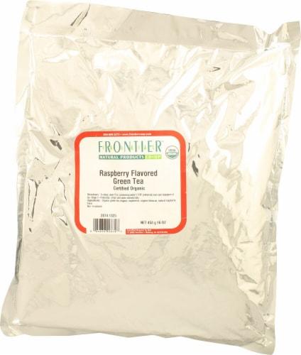 Frontier Organic Raspberry Green Tea Perspective: front