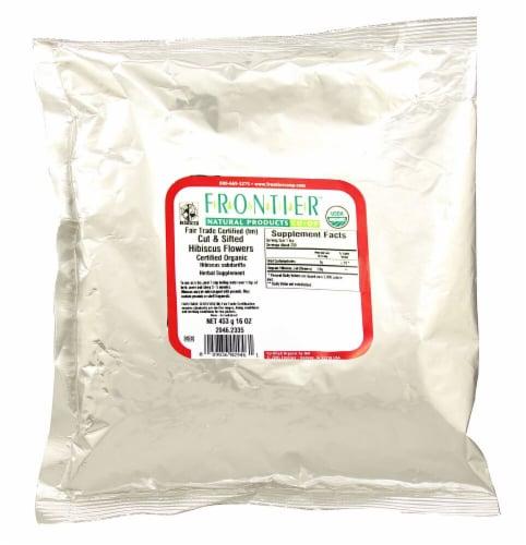 Frontier Organic Hibiscus Tea Perspective: front