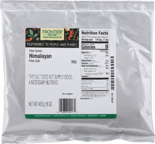Frontier Fine Grind Himalayan Pink Salt Perspective: front