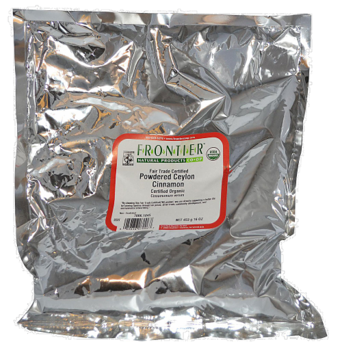 Frontier Organic Powdered Ceylon Cinnamon Perspective: front