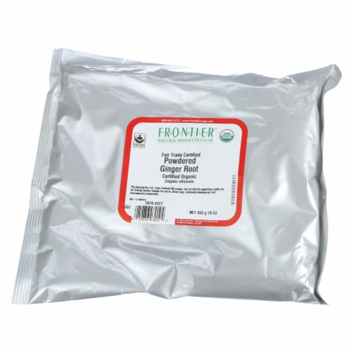 Frontier Herb Ginger Root Organic Fair Trade Certified Powder Ground - Single Bulk Item - 1LB Perspective: front