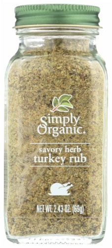 Simply Organic Savory Herb Turkey Rub Perspective: front