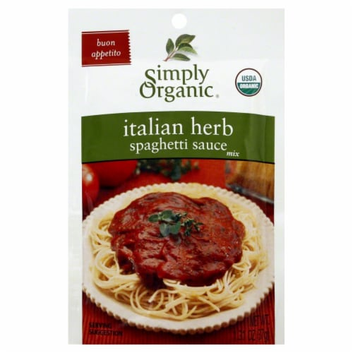Simply Organic Italian Herb Spaghetti Sauce Mix Perspective: front