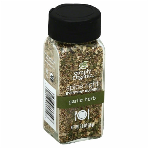 Simply Organic Spice Right Garlic Herb Perspective: front