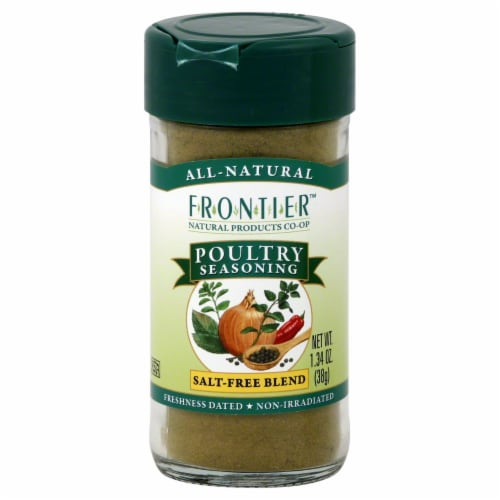 Frontier Poultry Seasoning Salt-Free Blend Perspective: front