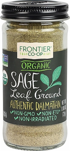 Frontier  Co-Op Organic Sage Leaf Ground Perspective: front
