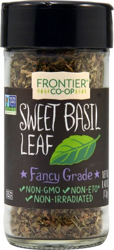 Frontier Co-Op Sweet Basil Leaf Flakes Perspective: front