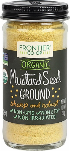 Frontier  Co-Op Organic Mustard Seed Ground Perspective: front