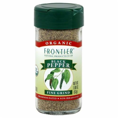 Frontier Organic Fine Grind Black Pepper Perspective: front