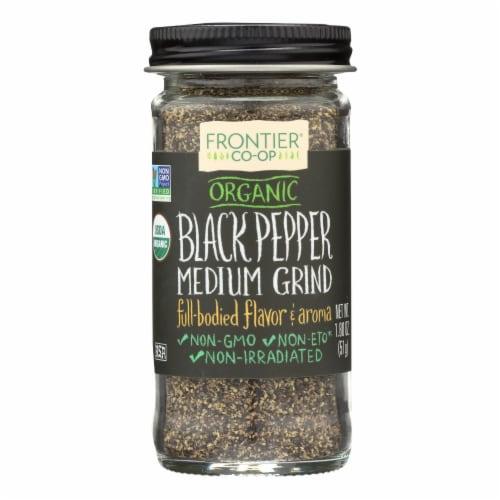 Frontier Organic Medium Grind Black Pepper Perspective: front