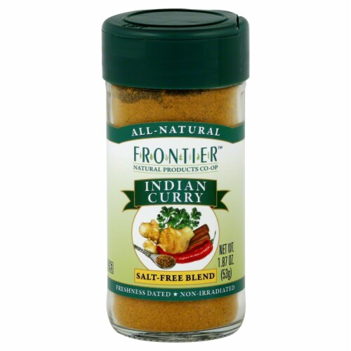 Frontier Indian Curry Salt-Free Blend Perspective: front