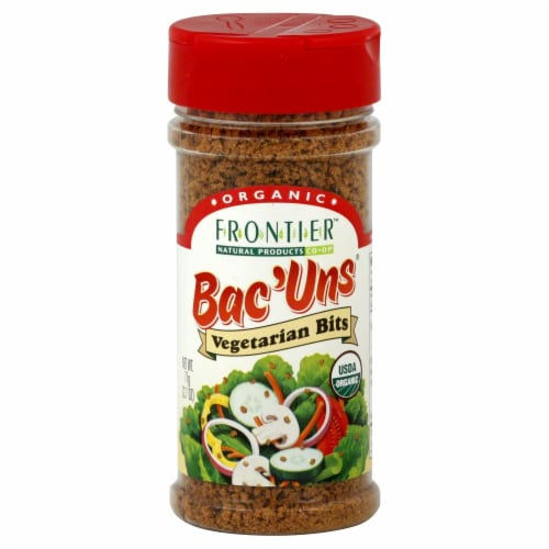Frontier Organic Bac'uns Vegetarian Bits Perspective: front