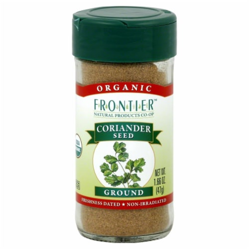 Frontier Organic Ground Coriander Seed Perspective: front