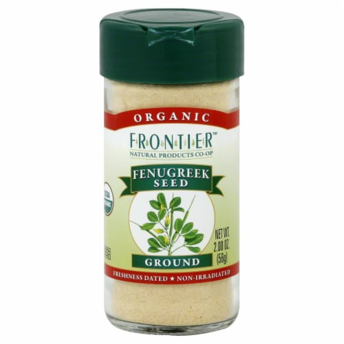 Frontier Organic Ground Fenugreek Seed Perspective: front