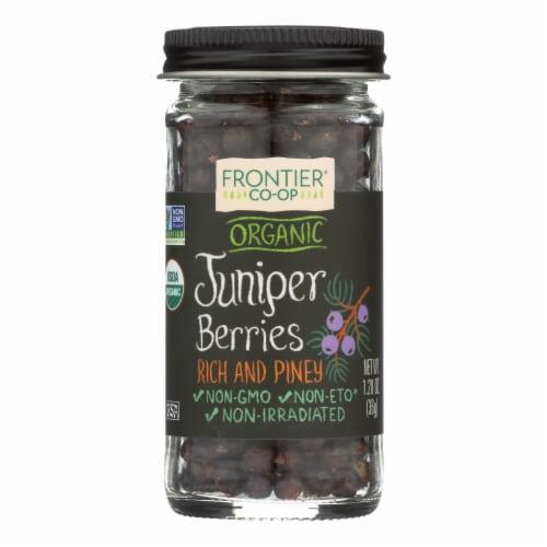 Frontier Co-Op Organic Whole Juniper Berries Perspective: front