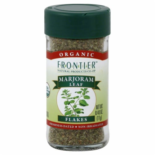 Frontier Organic Marjoram Leaf Flakes Perspective: front
