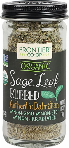 Frontier  Co-Op Organic Sage Leaf Rubbed Perspective: front