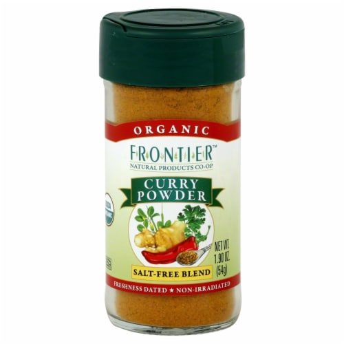Frontier Organic Curry Powder Salt-Free Blend Perspective: front