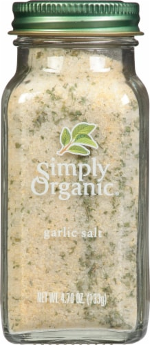 Simply Organic Garlic Salt Perspective: front
