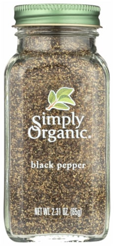 Simply Organic® Black Pepper Bottle Perspective: front